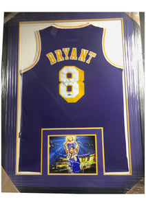 Kobe #8 Jersey  - Hand Signed and Custom Framed, Issued with Certificate of Authenticity