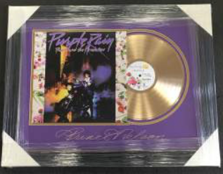 Prince - Gold Album, Laser engraved signature of Prince