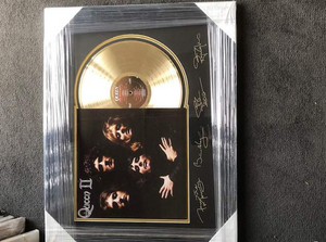 Queen - Gold Album with Laser Engraved Signatures of band members