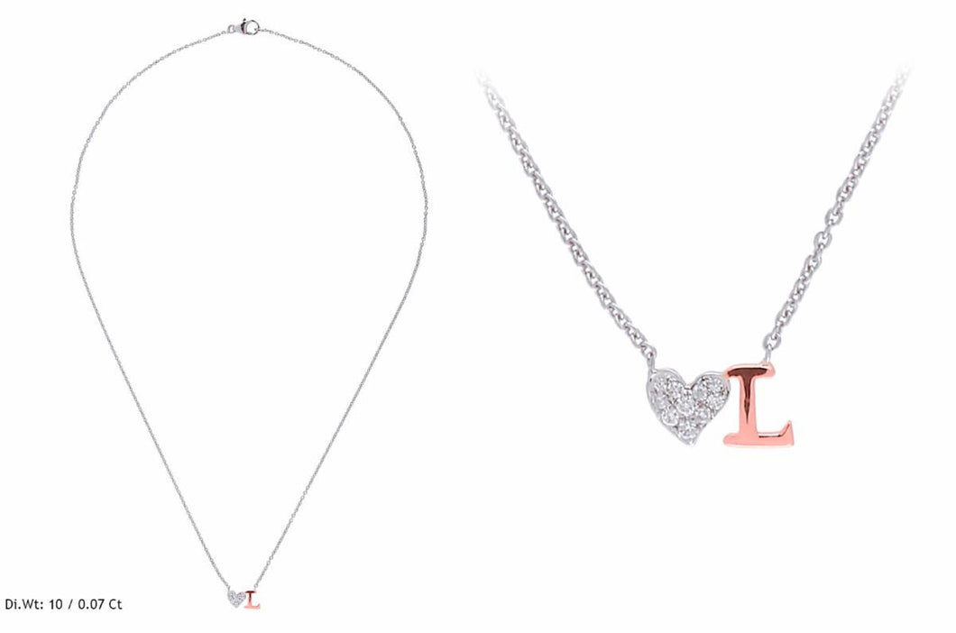 Single Strand Heart/Initial Necklace