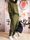 Casual Solid Hoodie&Pants Suits