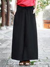 Cotton Linen Solid Wide Leg Pants
