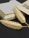 Retro Golden Feather Leaf Brooch