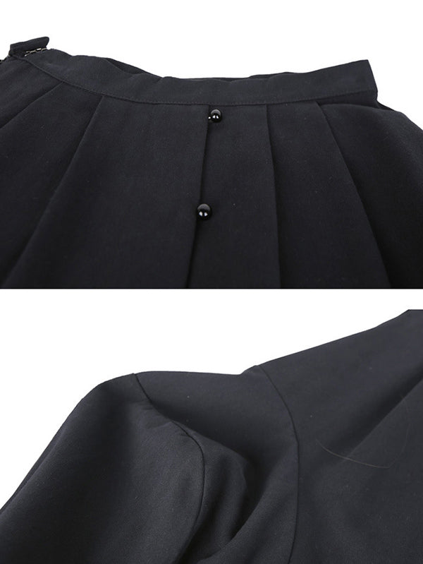 Pearl-Breasted Lantern Skirt