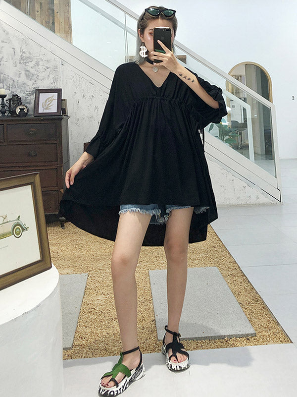 Summer Loose A-line High-low Dress