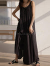 Original Solid Empire Elasticity Wide Leg Jumpsuits