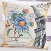 Eiffel Tower Floral Pillow Case