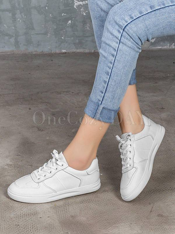 Leisure Fashion Solid Flat Shoes