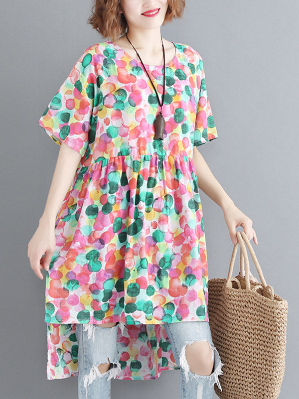 Loose Colorful Long T-shirt