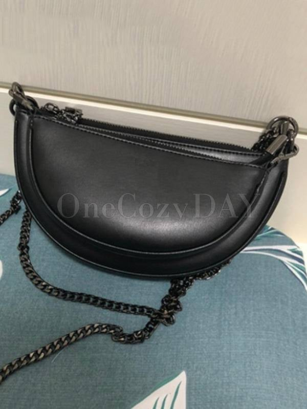 Simple Double Chains Semi-Circle Bag
