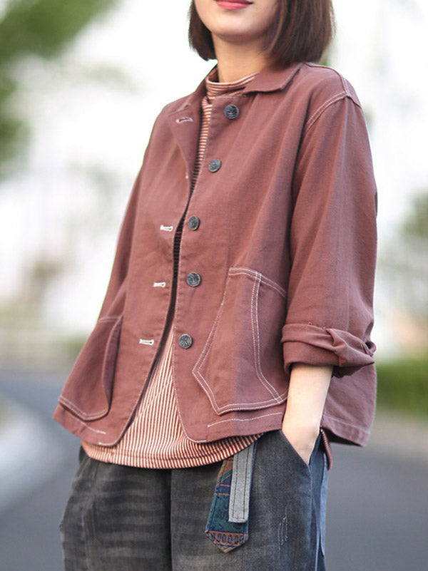 Loose Casual Lapel Short Outwear