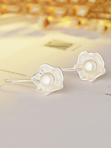 Lotus Pearl Fresh Earrings