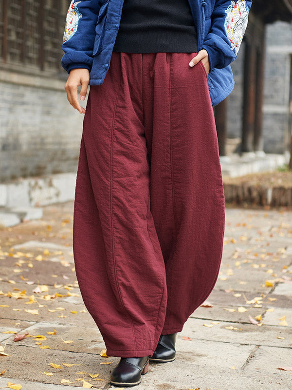Wide Leg Bloomer Pants