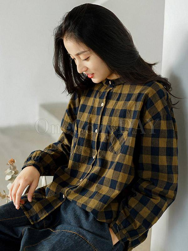 Loose Comfortable Plaid Shirt