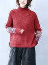 Applique Soft Base Kntting Sweater