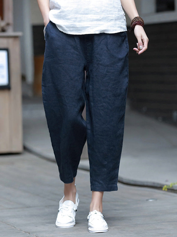 Casual Cotton Harem Pants