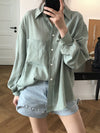 2 Colors Soft Lapel Loose Sun-proof Blouse