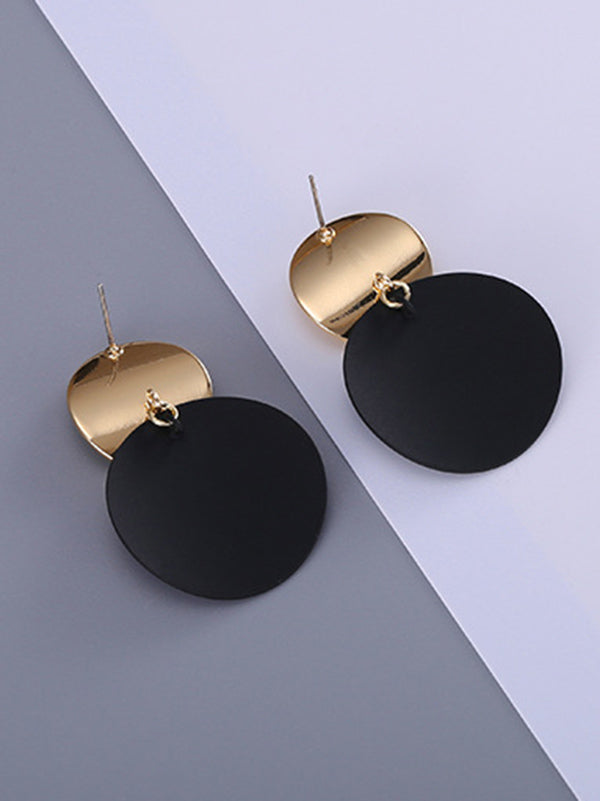 Metal Split-joint Fashion Earrings