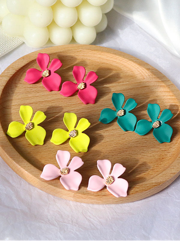Colorful Flower Earrings