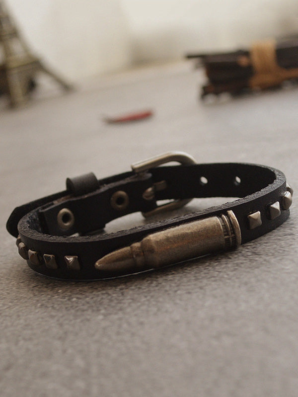 Punk Metal Bullet Bracelet Accessories