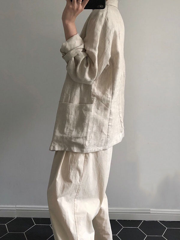Chic Linen Cotton Casual Cover-up