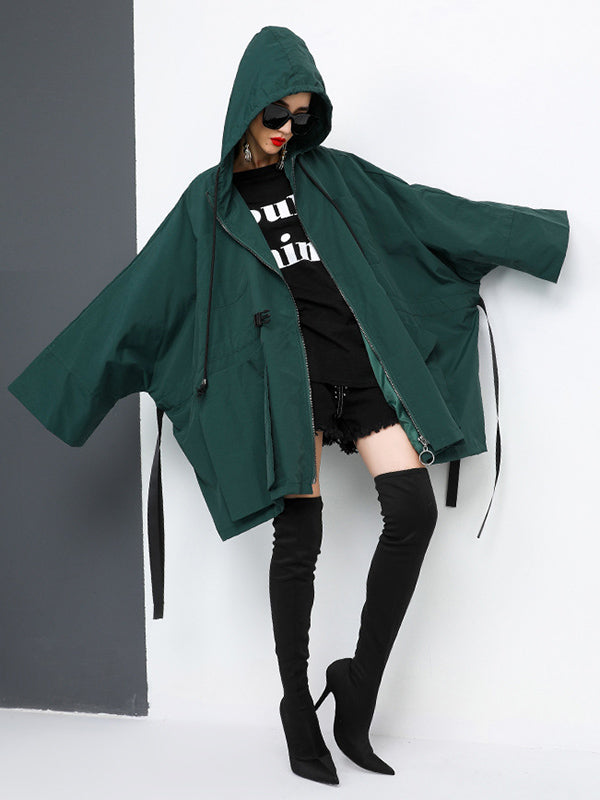 Casual Lace-up Hoodie Outwear
