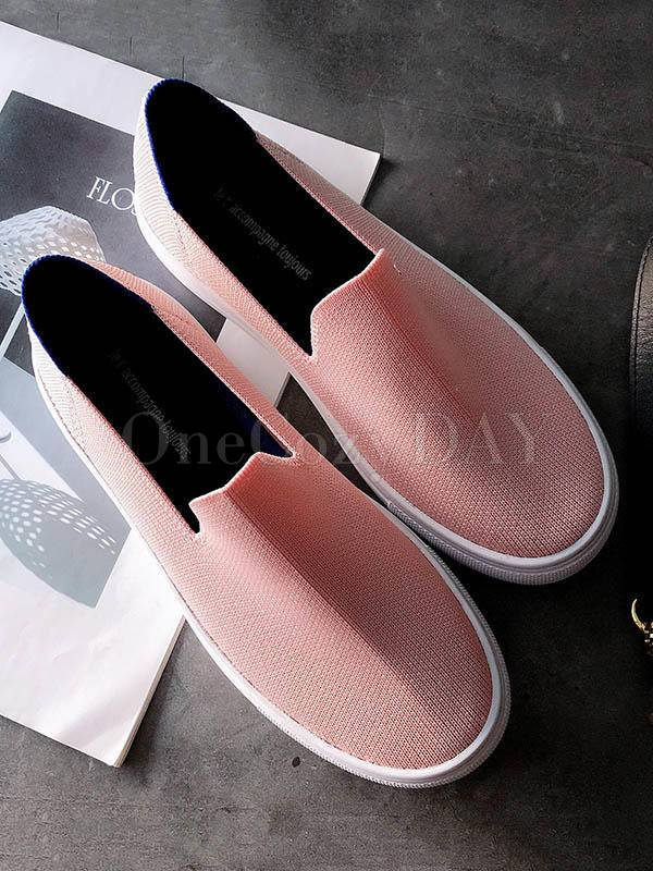 Solid Color Casual Comfortable Flat Shoes