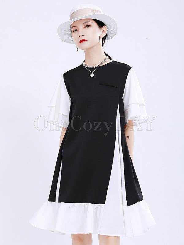 Fashion Original Split-Joint Graceful Mini Dress