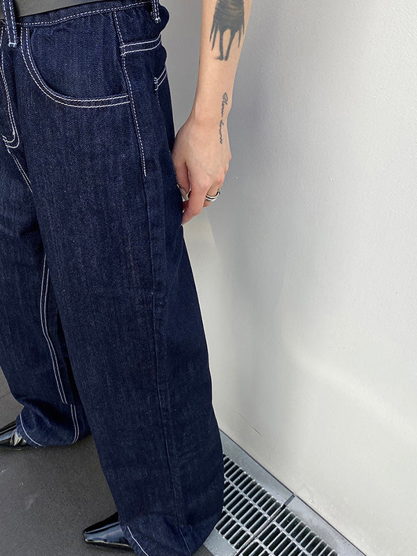 Casual Straight Leg Jean Pants