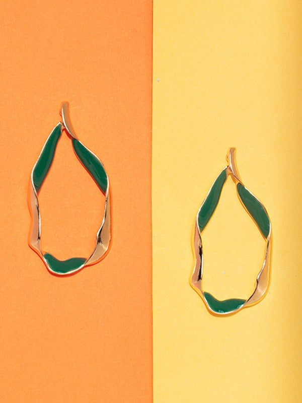Simple Cropped Alloy Earrings