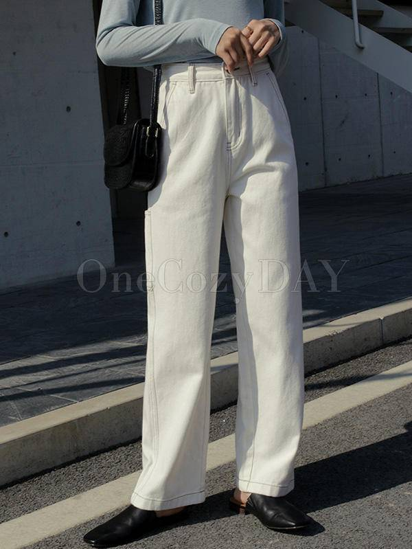 Empire Loose Straight Leg Pants