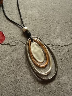 Multilayer Circle Long Necklace