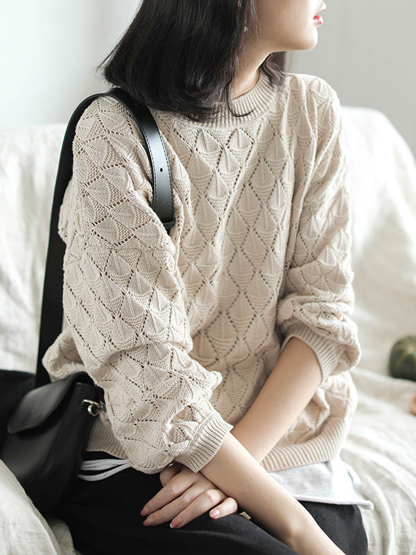 Retro Pure Color Sweater