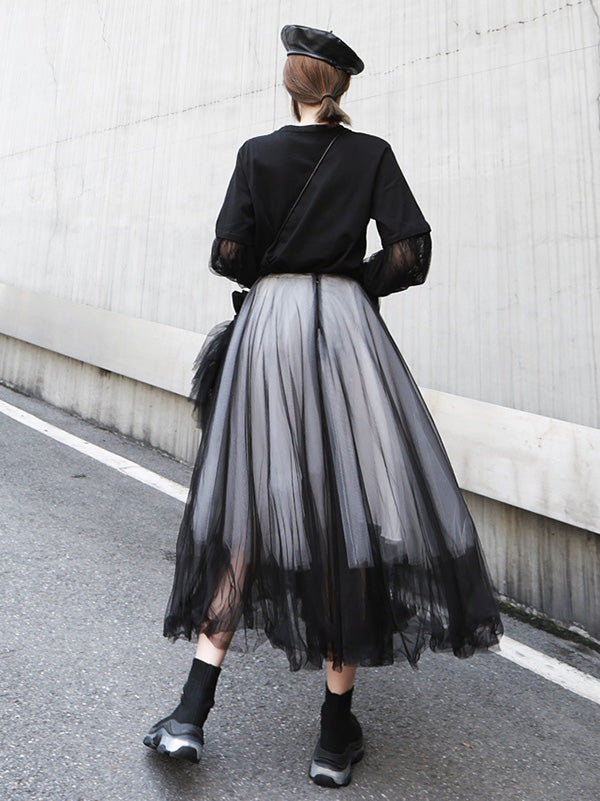 Casual Grenadine Bubble Skirt