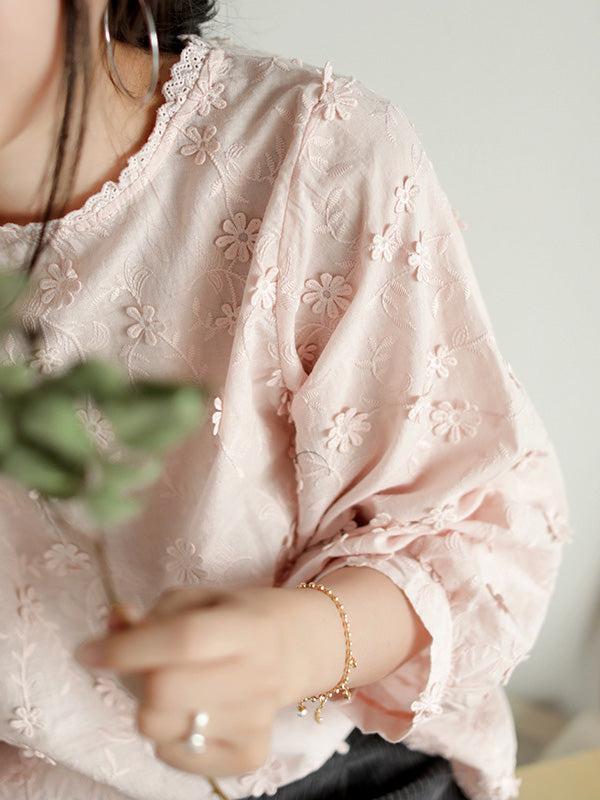Casual Embroidered T-shirt