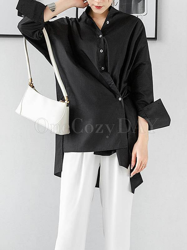Casual Fashion Designed Cropped Shirt