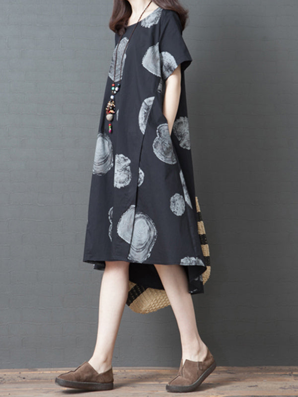 Casual Polka Printed Long Dress