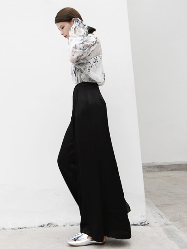 Loose Wide-leg Light Pants