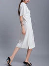 Normcore Beaded Ruffled Elegant Dress
