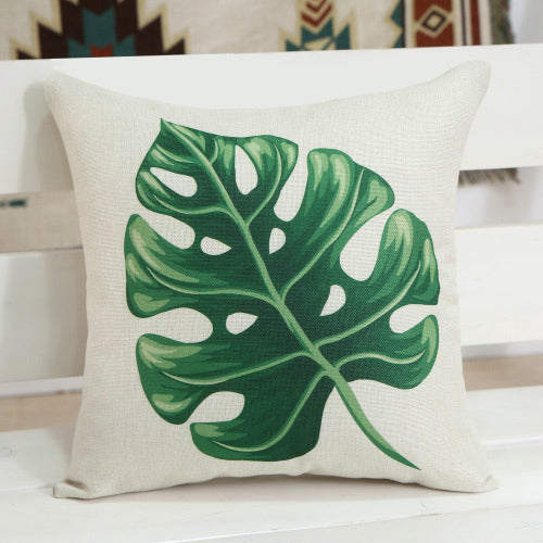 Leaf Printed Pillow Case