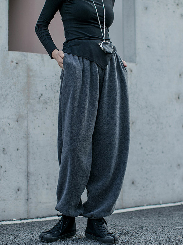 Loose Fleecez Casual Straight Leg Pants