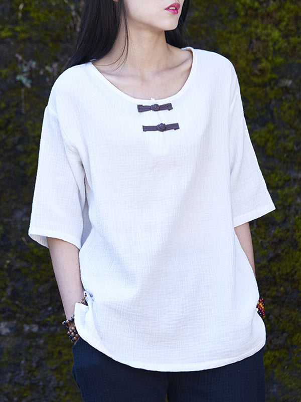 Cotton Linen Forg T-Shirt