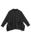 Black Long Sleeves Loose T-Shirt