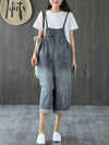 Original Retro Denim Belted Overalls