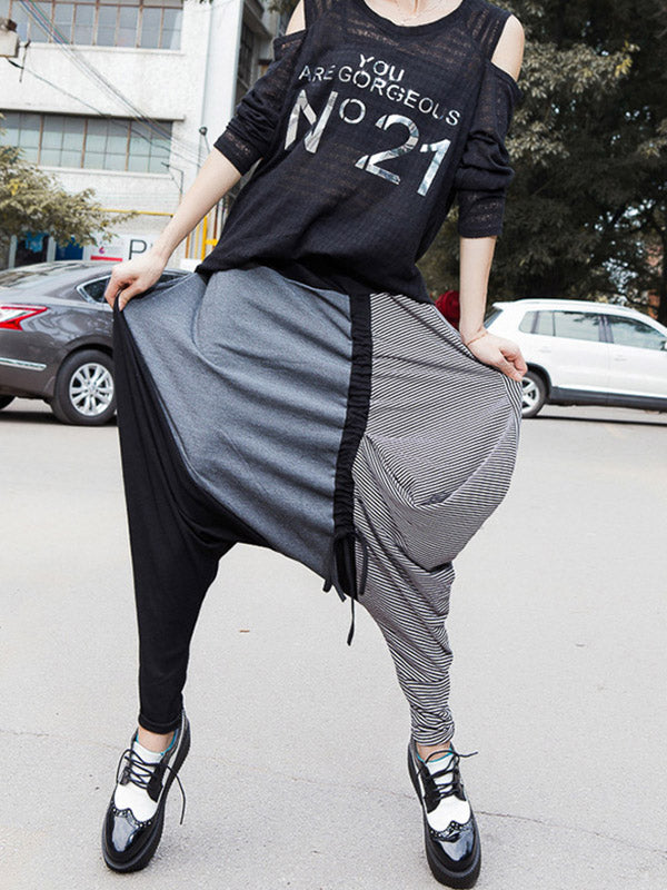 Split-joint Drop-crotch Casual Pants