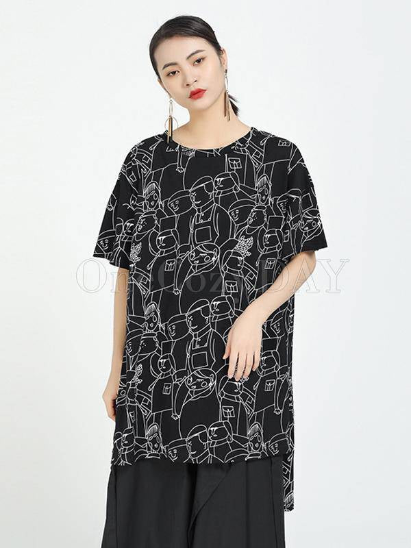 Loose Ink Printed Cool T-Shirts