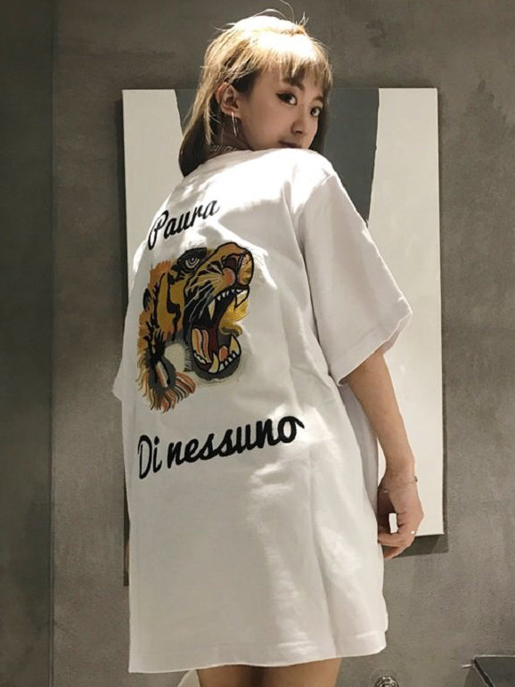 Animals Pattern Loose Cool T-shirt Top