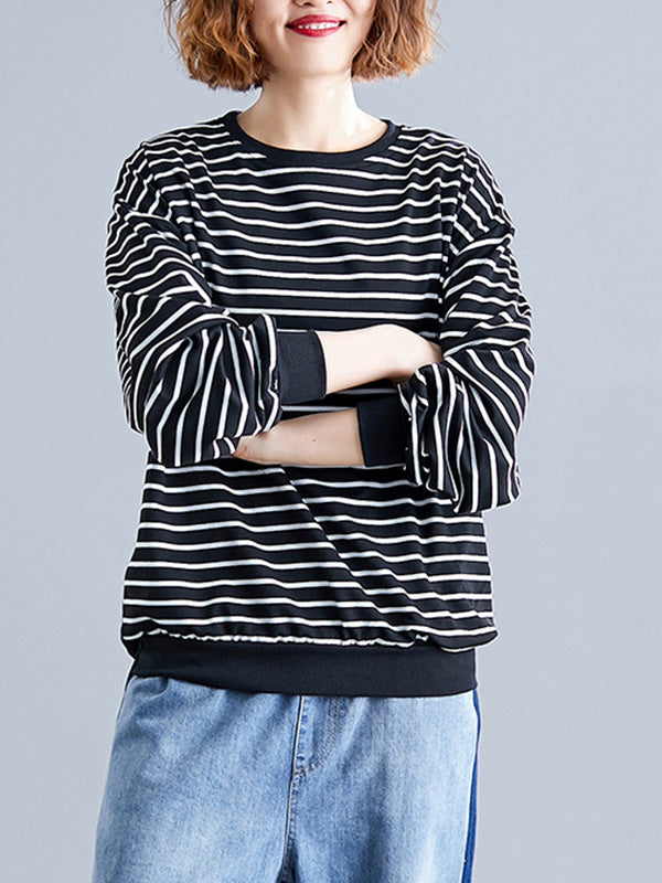 Casual Stripe Neck Printed Shirt