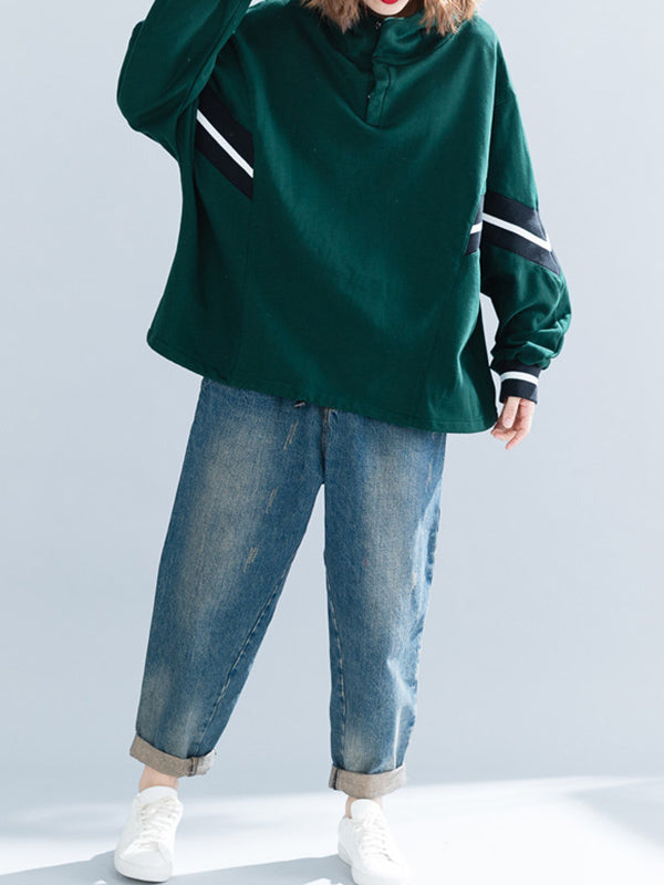 Loose Printed Thicken Hoodie Sweatshirt