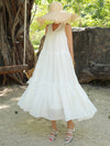 Summer Beach A-line Falbala Long Dress